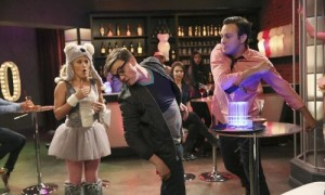 """YOUNG & HUNGRY - """"Young & Punchy"""" - Gabi hits it off with Josh's potential new employee in a new episode of ABC Family's original comedy """"Young & Hungry,"""" airing on Wednesday, July 30th at 8:00 p.m. ET/PT. (ABC FAMILY/Adam Taylor) EMILY OSMENT, JESSE MCCARTNEY, JONATHAN SADOWSKI"""