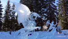 L'Ice Art, sculture di ghiaccio